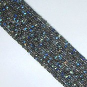 Labradorite 3-3.5mm Hand Cut Rondelle Shape Beads Strand