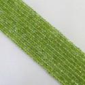 Peridot 4-4.5mm Hand-Cut Rondelle Shape Beads Strand