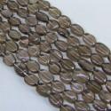 Smoky Quartz 8-10mm Smooth Oval Shape Beads Strand