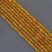 Citrine 3-3.5mm Faceted Rondelle Shape Beads Strand
