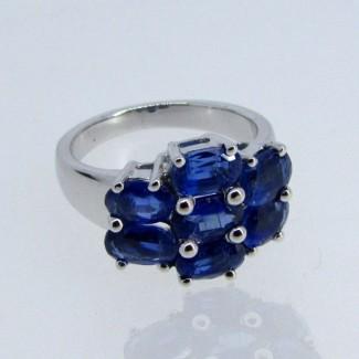 Blue Kyanite 925 Sterling Silver Ring