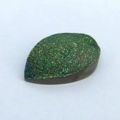 47.50 Ct. Lime Light Color 35x24mm Pear Shape Drusy Quartz