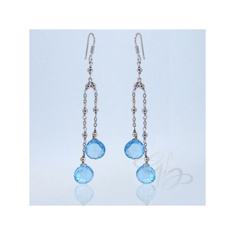 Sky - Blue Topaz 925 Sterling Silver Earrings