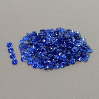 8.21 Cts. Lab Blue Sapphire 2mm Diamonds Cut Round Shape Gemstone Parcel (250 Pcs.)