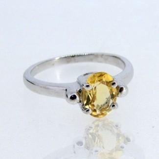 Citrine 925 Sterling Silver Ring