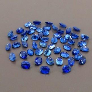 62.50 Cts. Blue Kyanite 7x5mm Regular Cut Oval Shape Gemstone Parcel (Total 54 Pcs.)