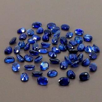 65.45 Cts. Blue Kyanite 7x5mm Regular Cut Oval Shape Gemstone Parcel (Total 60 Pcs.)