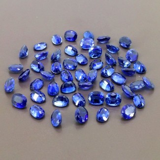 56.70 Cts. Blue Kyanite 7x5mm Regular Cut Oval Shape Gemstone Parcel (Total 52 Pcs.)