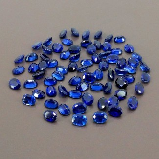 78.95 Cts. Blue Kyanite 7x5mm Regular Cut Oval Shape Gemstone Parcel (Total 74 Pcs.)