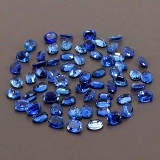 69.70 Cts. Blue Kyanite 7x5mm Regular Cut Oval Shape Gemstone Parcel (Total 64 Pcs.)