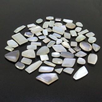 352.15 Cts. White Moonstone 1.40-17.85Cts. Regular Cut Mixed Shapes Shape Loose Gemstone (Total 66 Pcs.)