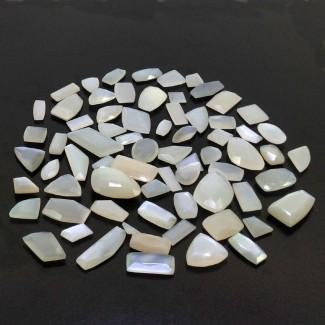 375.45 Cts. White Moonstone 1-21.30Cts. Regular Cut Mixed Shapes Shape Loose Gemstone (Total 70 Pcs.)