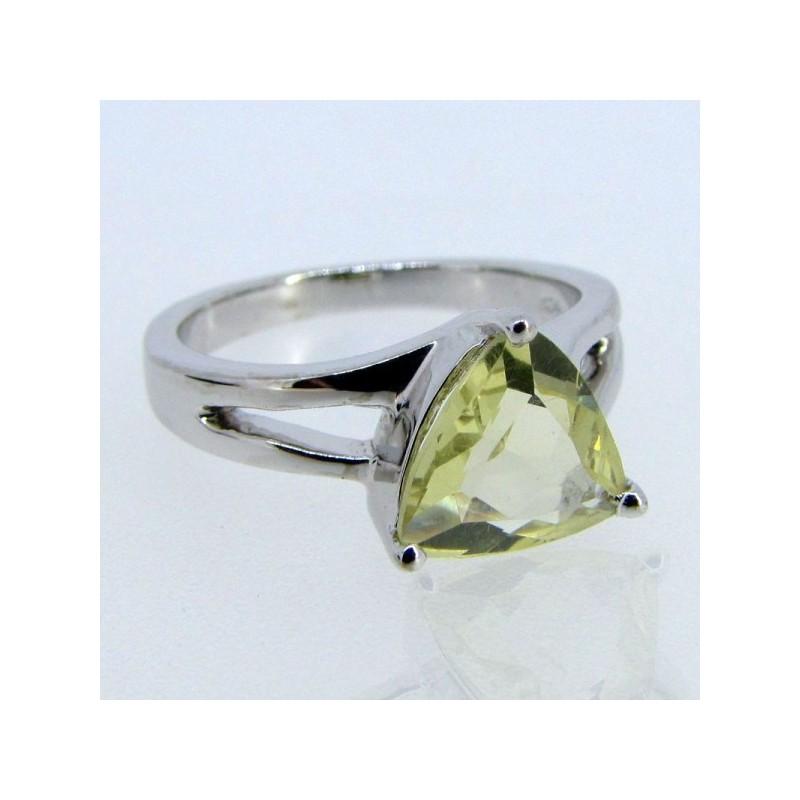 Lemon Quartz 925 Sterling Silver Ring