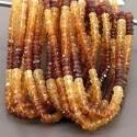 Hessonite Garnet 4-5mm Faceted Rondelle Shape 13 Inch Long Gemstone Beads (Total 12 Strands)