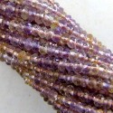 Ametrine 3-3.5mm Faceted Rondelle Shape Beads Strand