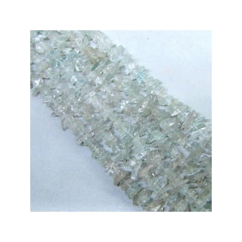 Aquamarine 4-6mm Tumbeled Chips Shape Beads Strand