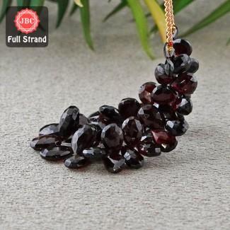 Garnet 10-15mm Briolette Pear Shape 7 Inch Long Gemstone Beads Strand - SKU:157036