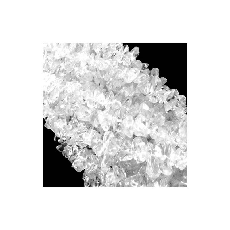 Crystal Quartz 6-8mm Tumbeled Chips Shape Beads Strand