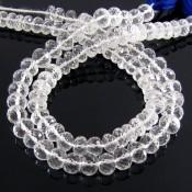 Crystal Quartz 6-6.5mm Faceted Rondelle Shape Beads Strand