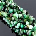 Emerald 6-8mm Tumbeled Chips Shape Beads Strand