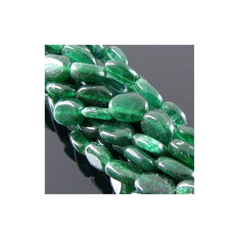Green Aventurine 10-12mm Oval Shape Beads Strand