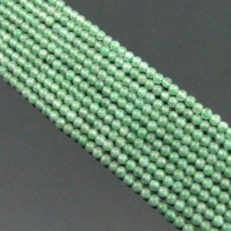 Green Aventurine 2-2.5mm Smooth Round Shape Bead Strands