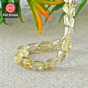 Feldspar 8-14mm Step Cut Nuggets Shape 11 Inch Long Gemstone Beads Strand - SKU:157417