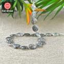 Black Rutile 12-13.5mm Checkerboard Round Shape 12 Inch Long Gemstone Beads Strand - SKU:157404