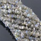 Labradorite 4-6mm Tumbeled Chips Shape Beads Strand