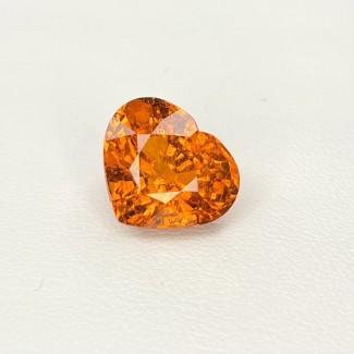8.67 Cts. Spessartite Garnet 10.87x12.84mm Old Cut Heart Shape Single Gem Piece (1 Pc.)