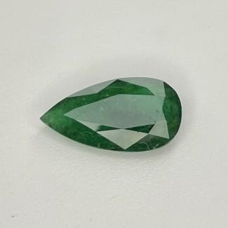 9.70 Cts. Emerald 22x12mm Rose Cut Pear Shape Single Gem Piece (1 Pc.)