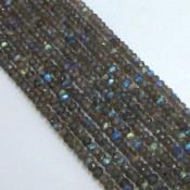 Labradorite 3-3.5mm Faceted Rondelle Shape Beads Strand