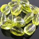Lemon Quartz 25-35mm Faceted Nuggets Shape Beads Strand