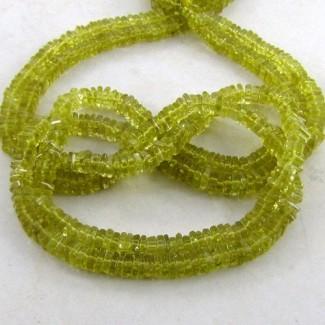 Lemon Quartz 5-6mm Smooth Heishi Cube Shape Beads Strand