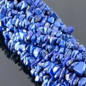 Lapis Lazuli 6-7mm Tumbeled Chips Shape Beads Strand
