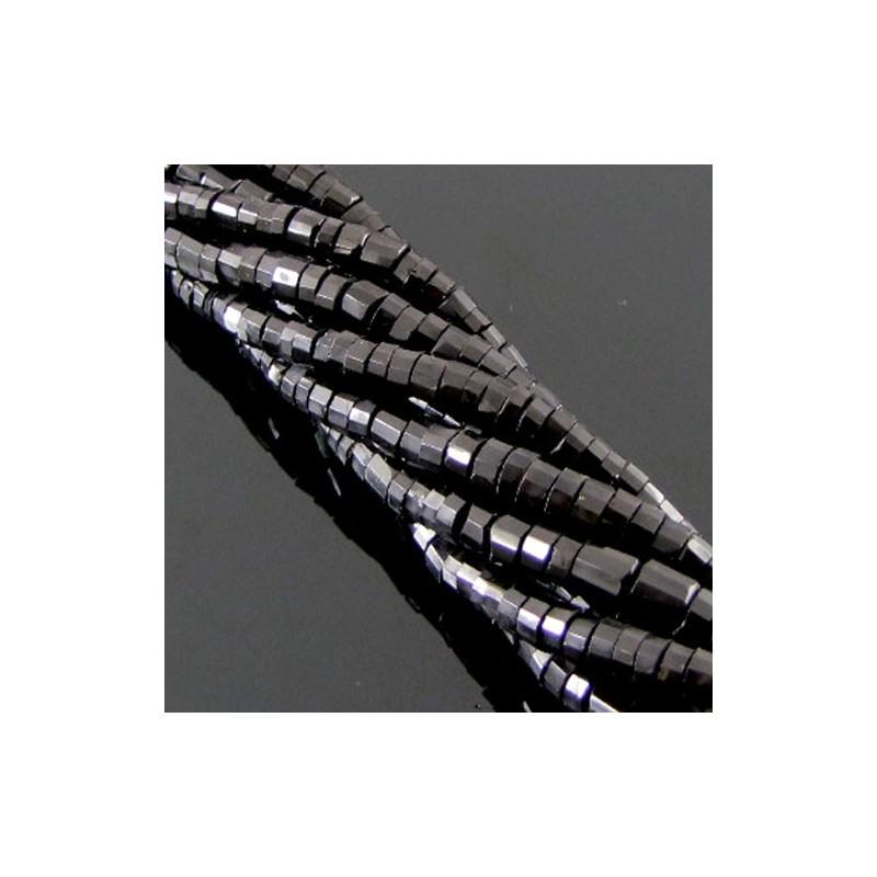 Melanite Garnet 5-5.5mm Faceted Wheel Shape Beads Strand