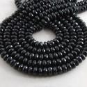 Melanite Garnet 7-8mm Faceted Rondelle Shape Beads Strand