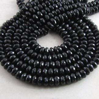 Melanite Garnet 7-8mm Faceted Rondelle Shape Bead Strands