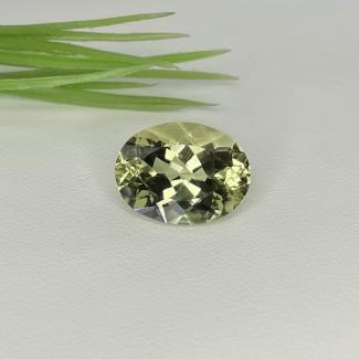 7.65 Cts. Green Beryl 15.5x11.5mm Regular Cut Oval Shape Single Gem Piece (1 Pc.)