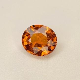 8.11 Cts. Spessartite Garnet 10.75x12.35mm Old Cut Oval Shape Single Gem Piece (1 Pc.)