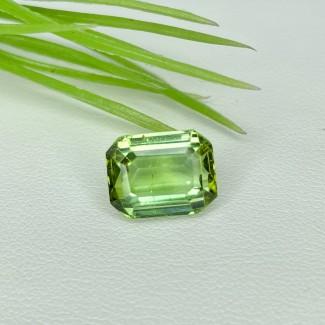 6.25 Cts. Green Tourmaline 11.5x9mm Step Cut Octagon Shape Loose Gemstone - SKU:154042