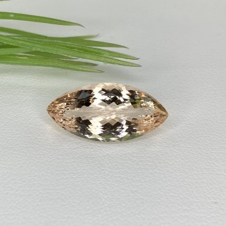 6.50 Cts. Morganite 19.5x9.5mm Regular Cut Marquise Shape Loose Gemstone - SKU:153558