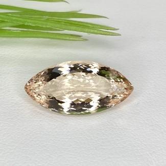 7 Cts. Morganite 20x10mm Regular Cut Marquise Shape Loose Gemstone - SKU:153559