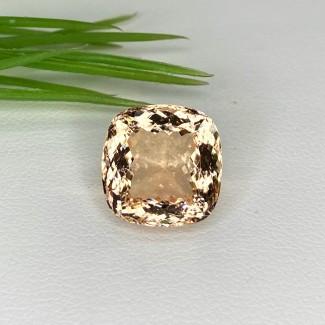 8 Cts. Morganite 12mm Regular Cut Square Cushion Shape Loose Gemstone - SKU:153547