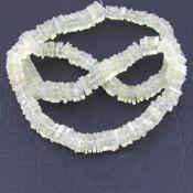 White Moonstone 5-6mm Smooth Heishi Cube Shape Beads Strand