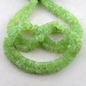 Prehnite 6-7mm Smooth Heishi Cube Shape Beads Strand