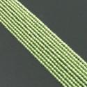 Peridot 2-2.5mm Smooth Round Shape Beads Strand