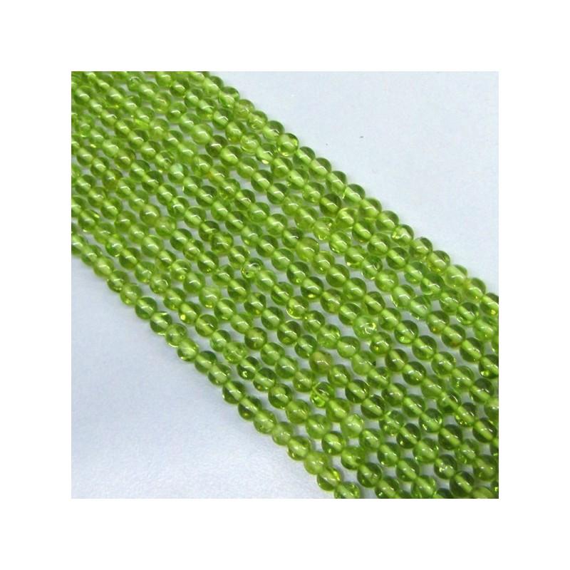 Peridot 4-4.5mm Smooth Round Shape Beads Strand