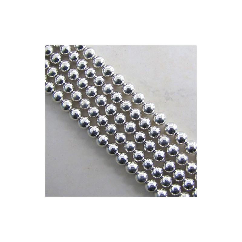 Pyrite 6-6.5mm Smooth Round Shape Beads Strand