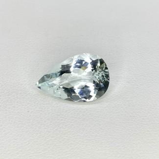 6.61 Cts. Aquamarine 17x11mm Regular Cut Pear Shape Loose Gemstone - SKU:157728